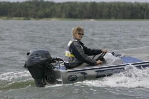 """Testvaart in Finland voor """"Motorboot""""."""