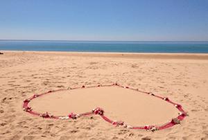 trouwen op strand -vab