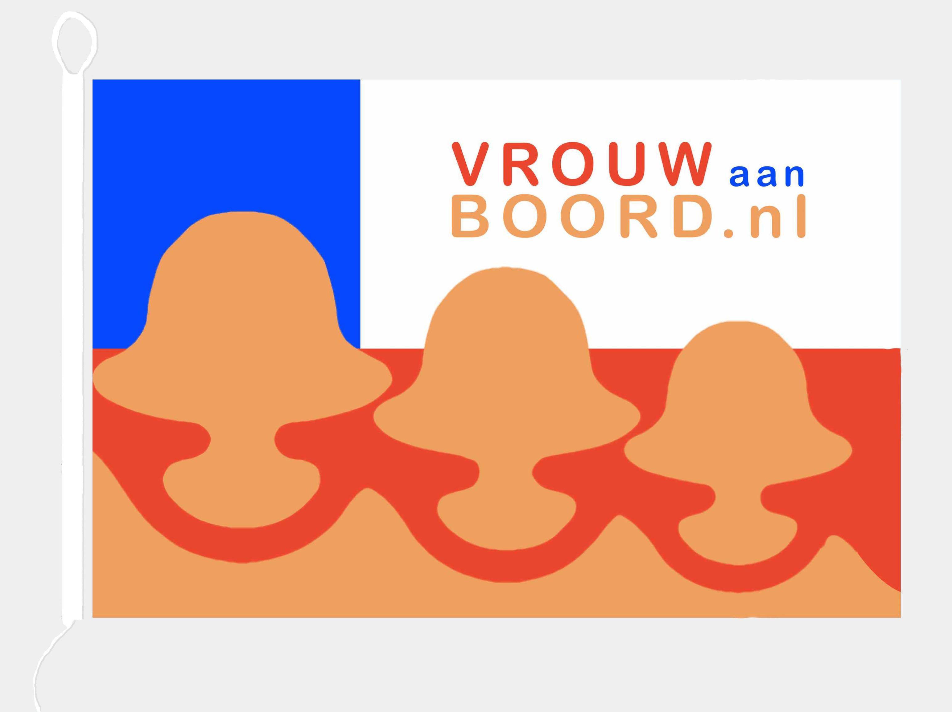 VrouwAanBoord vlag met koordje