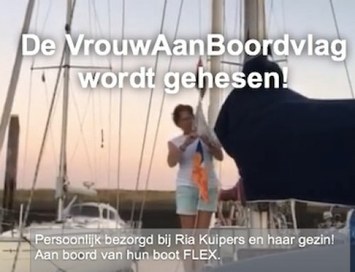 VrouwAanBoord Vlag aan boord afgeleverd
